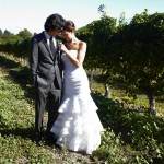 A moment alone in the vineyards pre-ceremony.