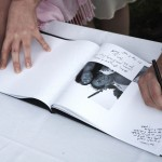 Pictoral Guest Book with Photos telling Brides/Groom's Story.