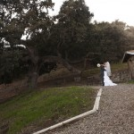 Bride and Groom enjoying a private moment immediately following the ceremony.