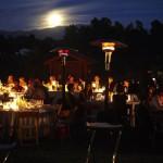 Full Moon over wedding dinner