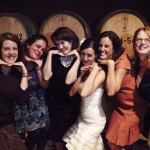 Ladies enjoying a quick photo opp in the Barrel Room