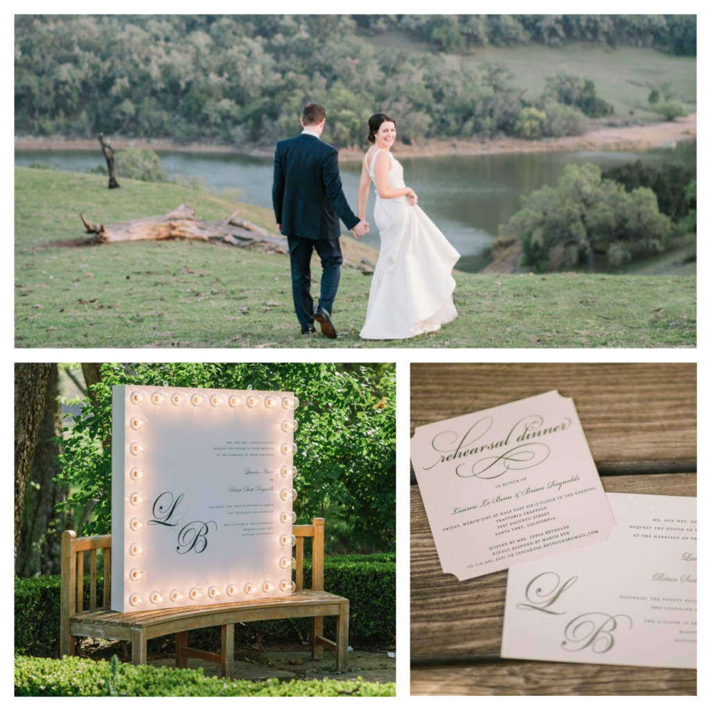 alisal lauren and brian landscape and invitation